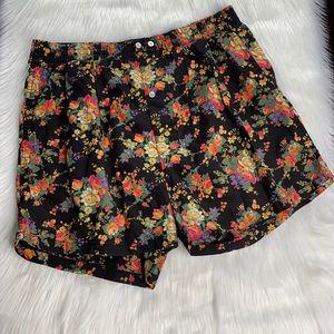 GAP Vintage Black Floral Boxer Short
